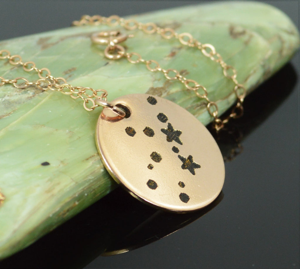 Rose Gold Filled Virgo Necklace