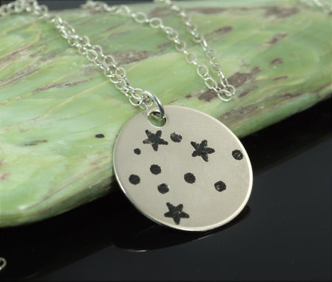Sterling Silver Aquarius Necklace