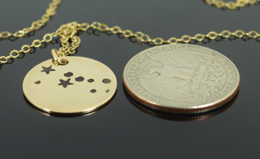 Gold Filled Taurus Necklace
