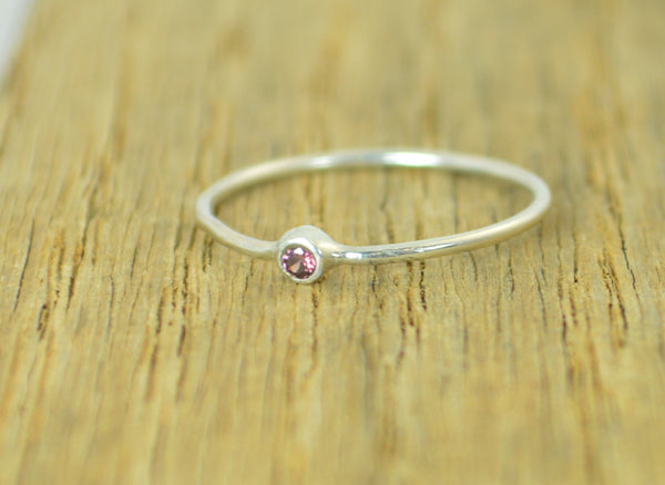 Tiny Silver Alexandrite Ring