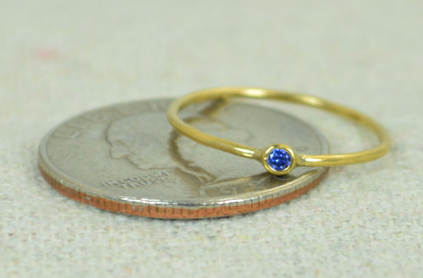 Tiny Gold Filled Sapphire Ring