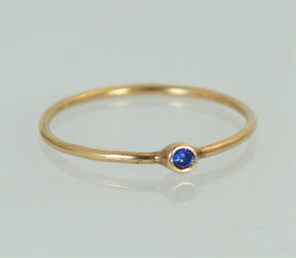 Tiny Rose Gold Sapphire Ring