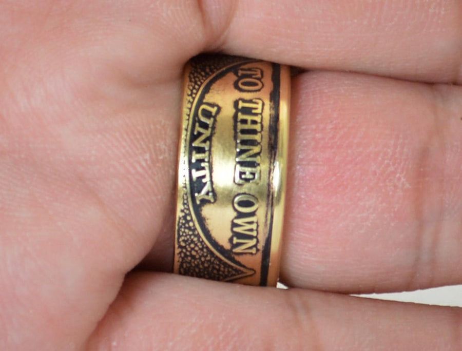 AA Ring, Sobriety, AA anniversary, Alcoholics Anonymous, Coin Ring, Free Engraving