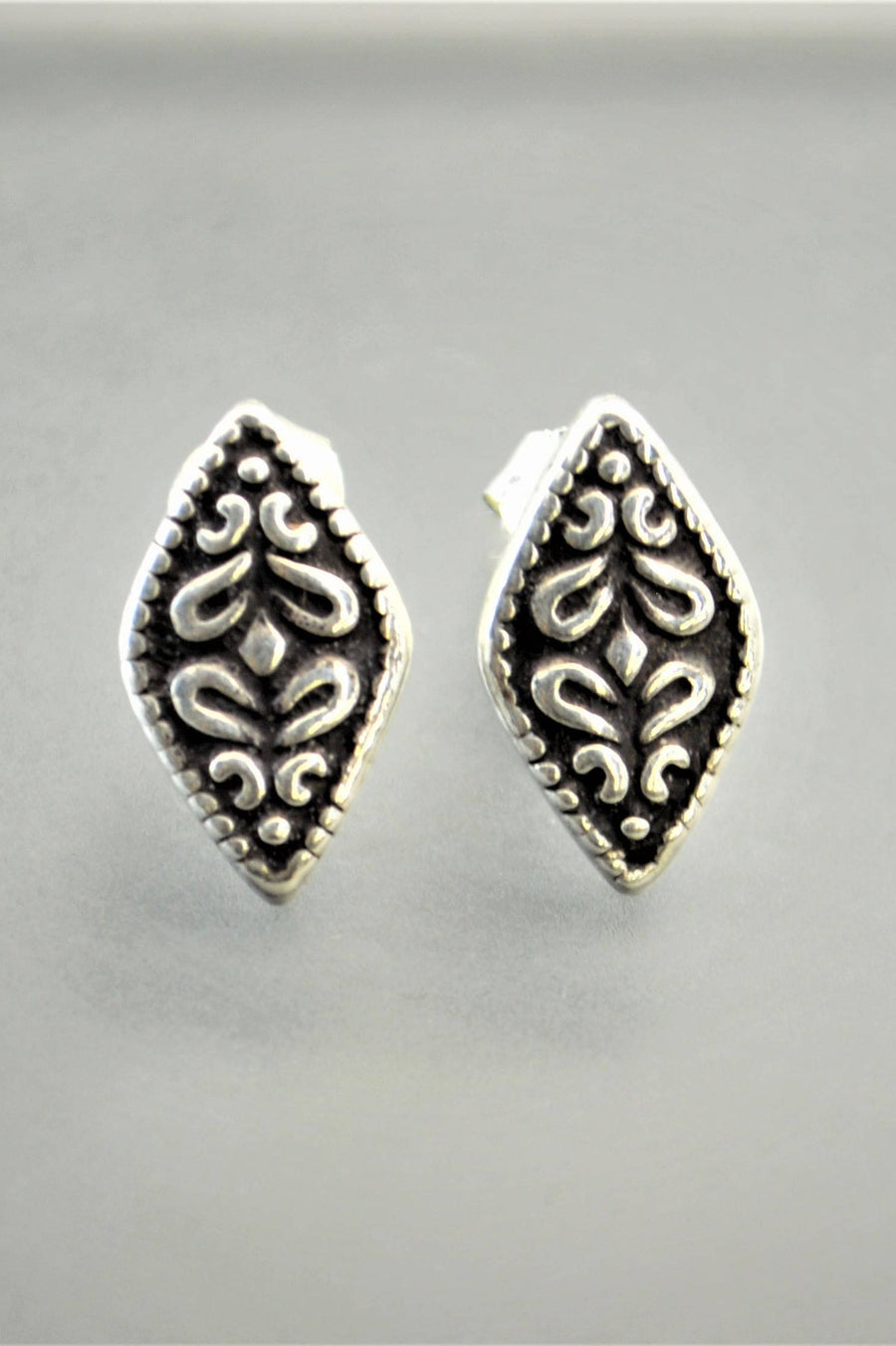 Silver Sterling Bohemian Stud Earrings