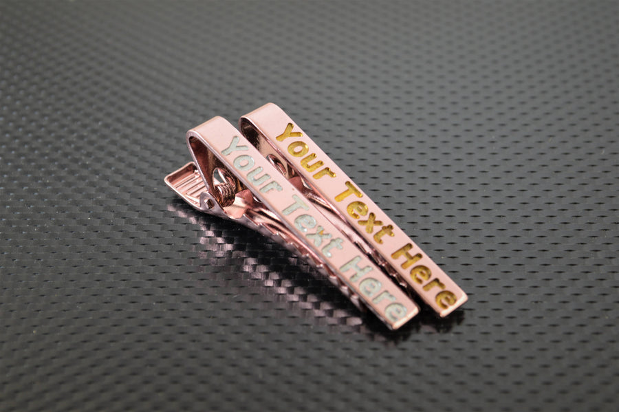Personalized Pink Tie Bar, Wedding Gift, Groomsmen Gift, Father's Day, and Graduation Gift