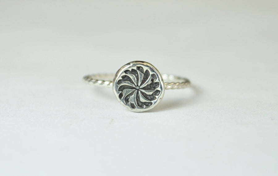 Abstract Pinwheel Ring