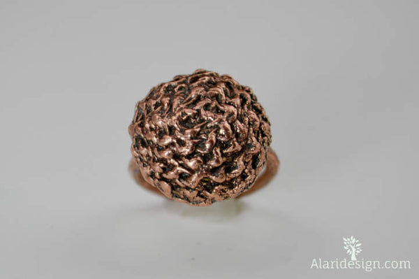 Textured Copper Ring