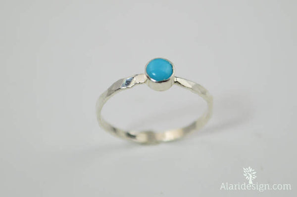Small Silver Turquoise Ring