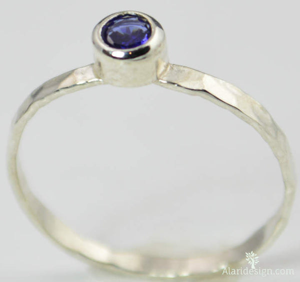 Small Sapphire Ring
