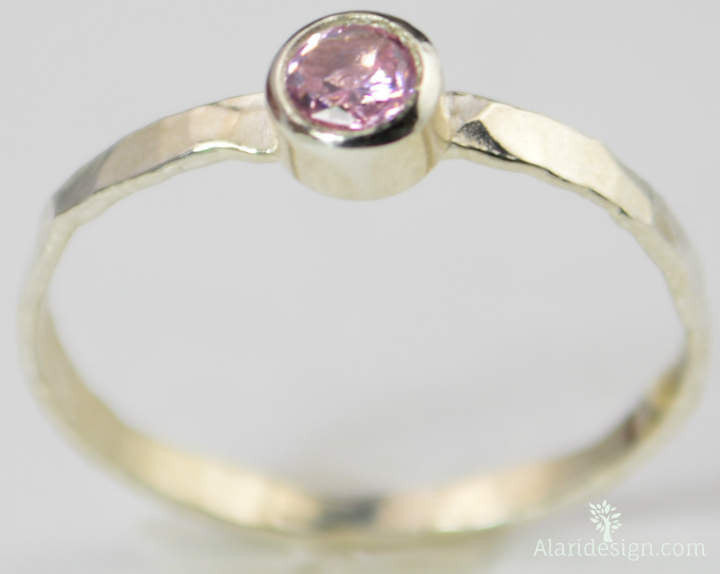 Small Pink Tourmaline Ring
