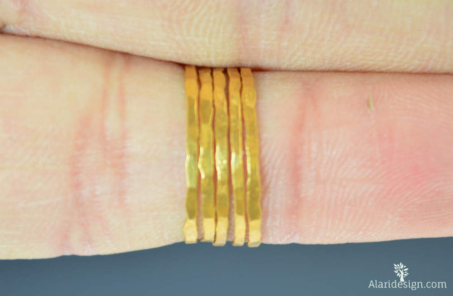 24k Gold Vermeil Stacking Rings
