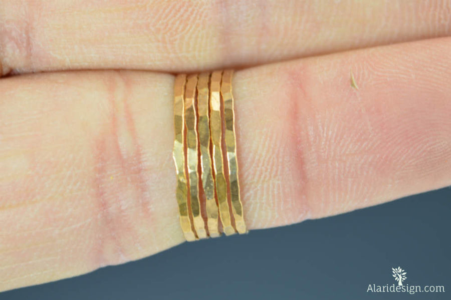 Rose Gold Vermeil Stacking Rings
