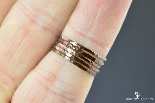 Super Thin Bronze Copper Stackable Ring