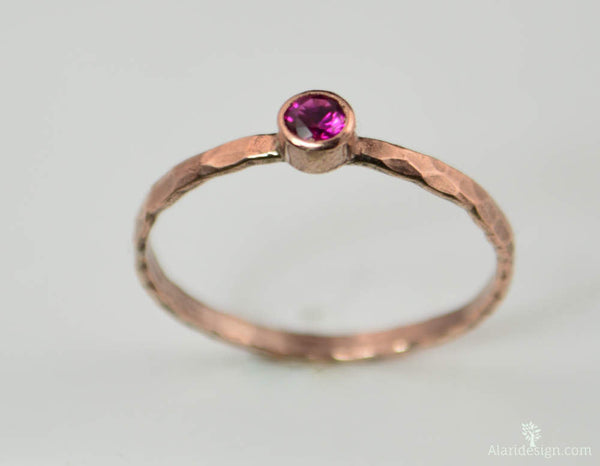 Classic Copper Ruby Ring