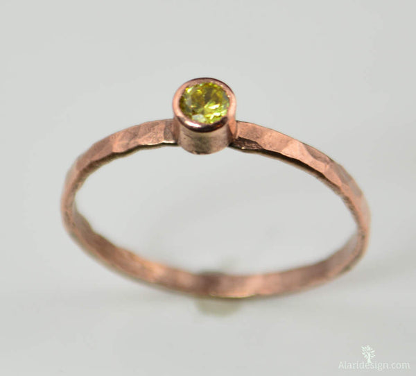 Classic Copper Topaz Ring