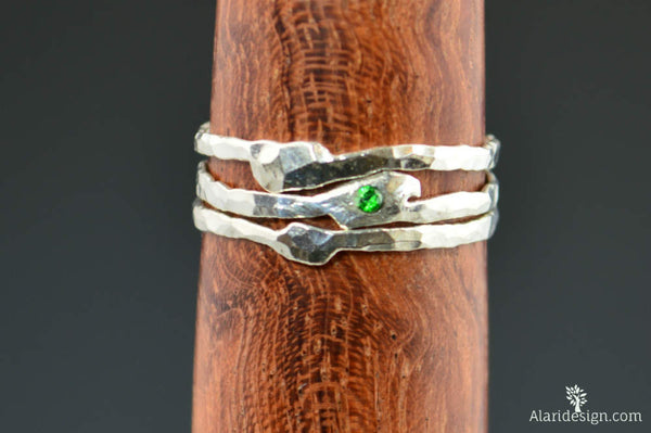 Freeform Emerald Ring