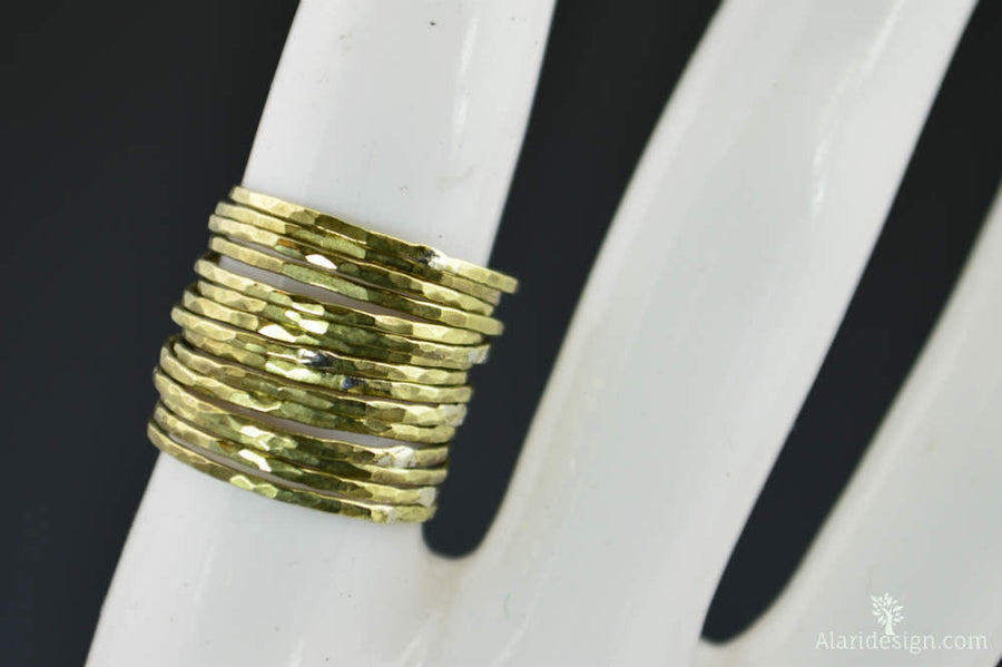 Super Thin Brass Stacking Rings