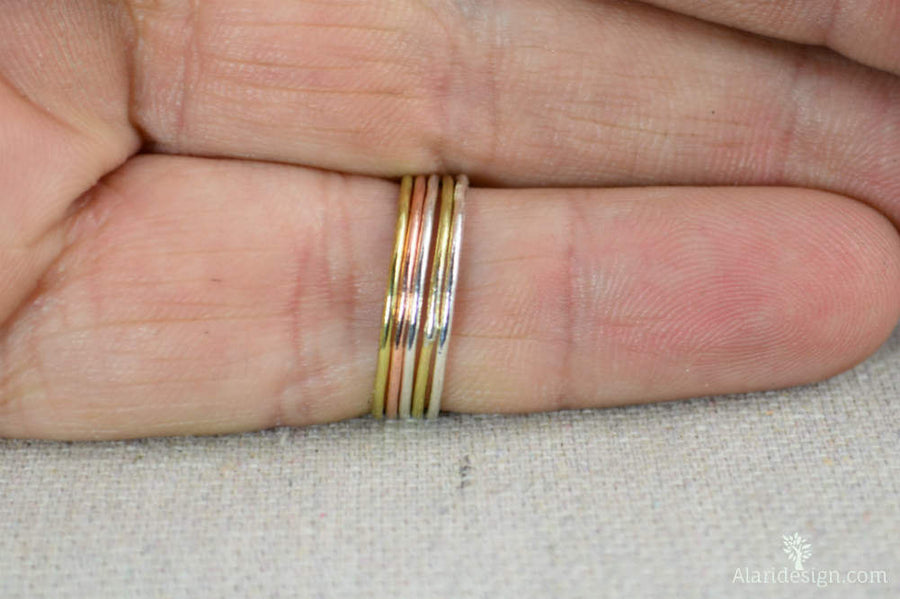 Thin Round Copper Stacking Rings