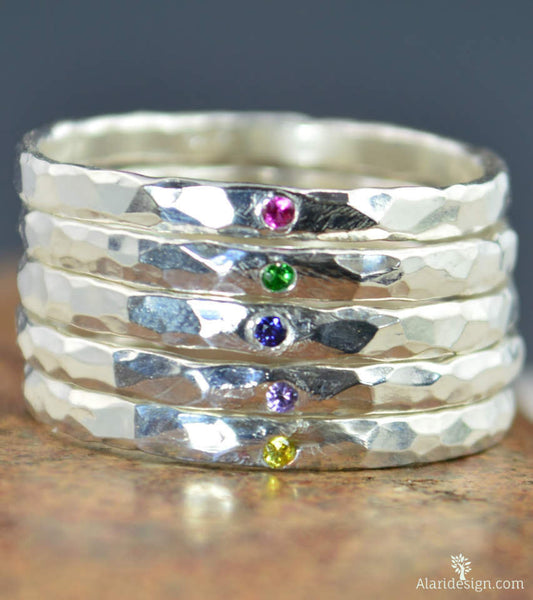 Super Thick Pure Silver Stackable Rings