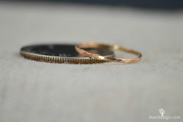 Super Thin 14k Rose Gold Rings