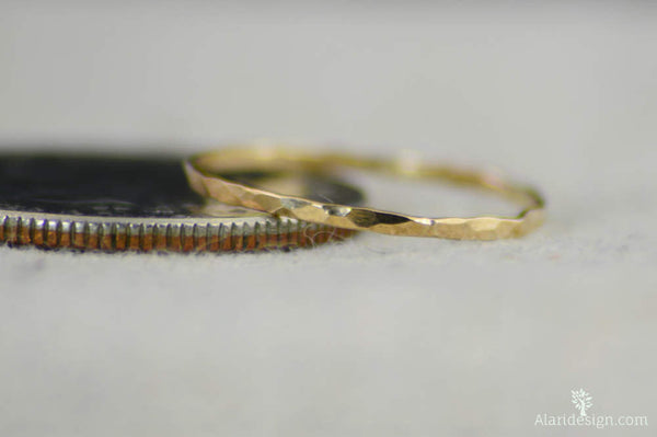 Super Thin 14k Gold filled Stackable Ring