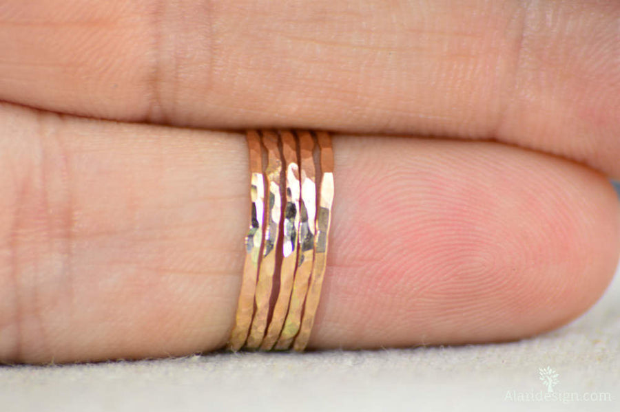 Super Thin 14k Rose Gold Filled Stackable Ring