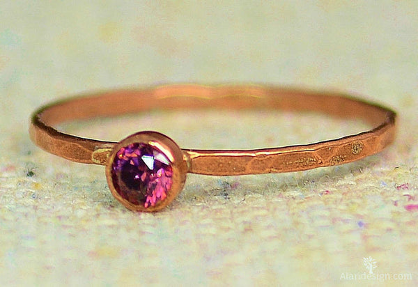 Dainty Copper Alexandrite Ring