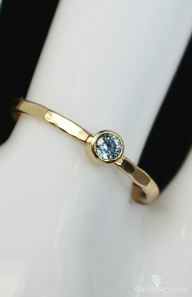 Classic 14k Gold Filled Aquamarine Ring