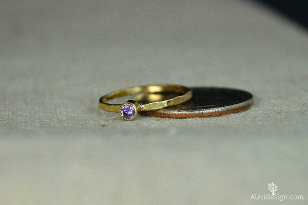 Classic 14k Gold Filled Amethyst Ring