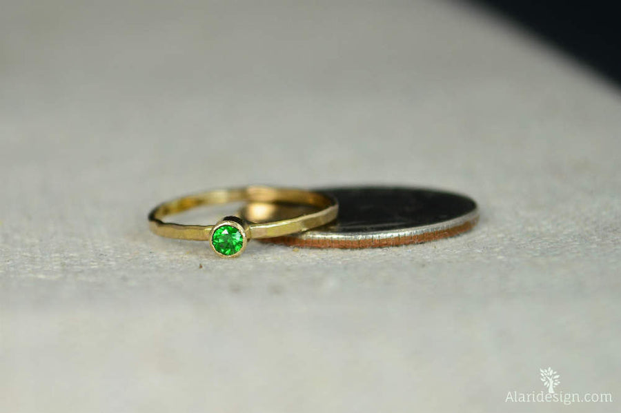 Classic 14k Gold Filled Emerald Ring