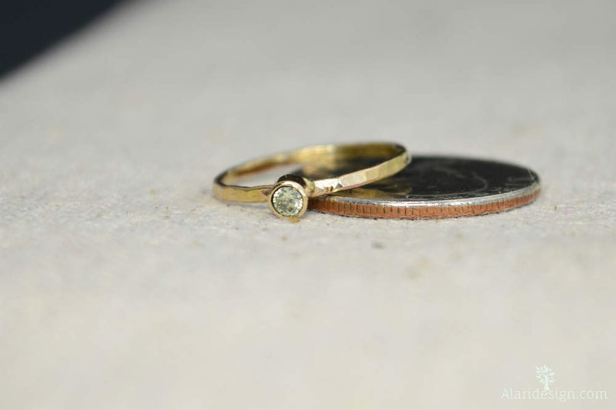 Classic 14k Gold Filled Peridot Ring