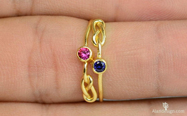 Gold Filled Ruby Infinity Ring