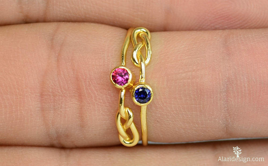 Gold Filled Sapphire Infinity Ring