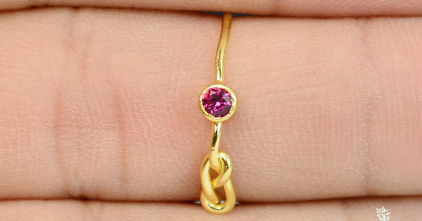 Solid 14k Gold Ruby Infinity Ring