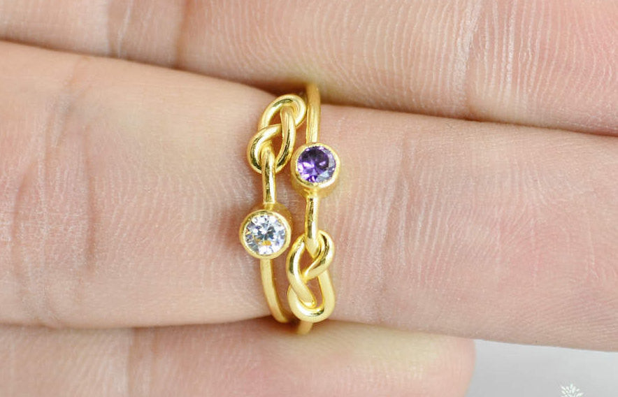 Gold Filled CZ Diamond Infinity Ring
