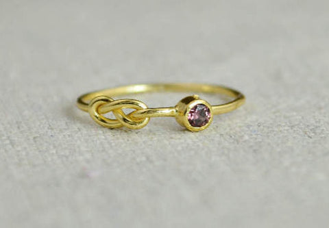 14k Gold Filled Alexandrite Infinity Ring