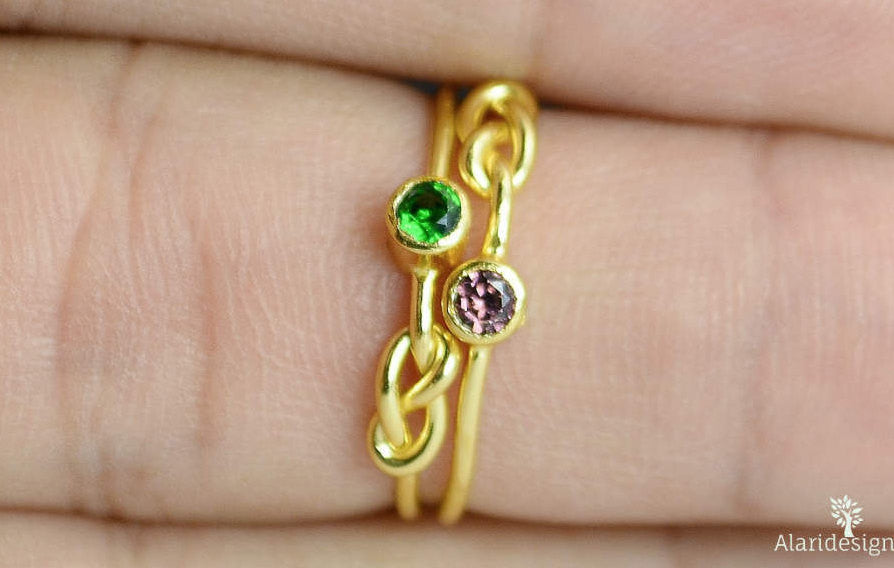 Gold Filled Alexandrite Infinity Ring