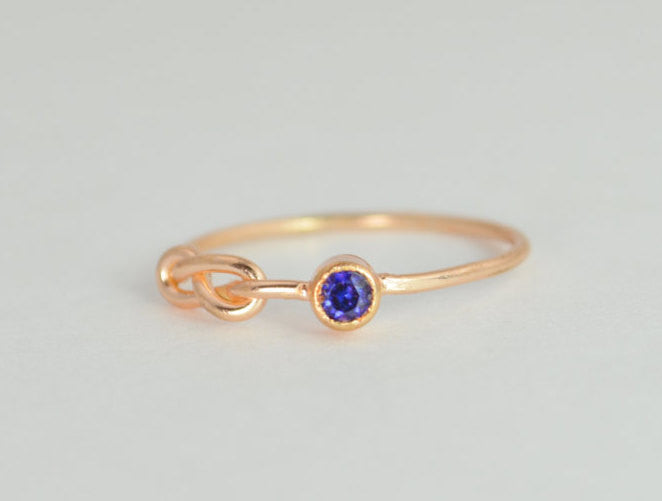Rose Gold Filled Sapphire Infinity Ring