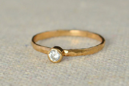 Classic Rose Gold Filled CZ Diamond Ring