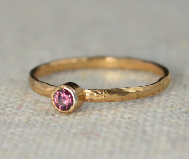 Classic Rose Gold Filled Alexandrite Ring