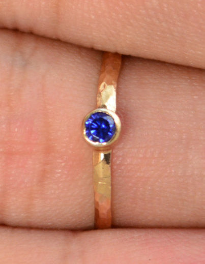 Classic Rose Gold Filled Sapphire Ring