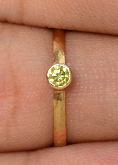 Classic Rose Gold Filled Topaz Ring