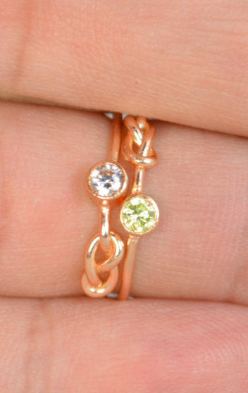 Rose Gold Filled CZ Diamond Infinity Ring