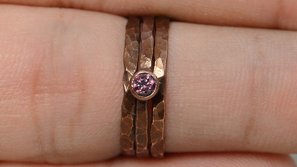 Classic Bronze Copper Alexandrite Ring