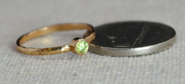Classic 14k Rose Gold Filled Birthstone Ring
