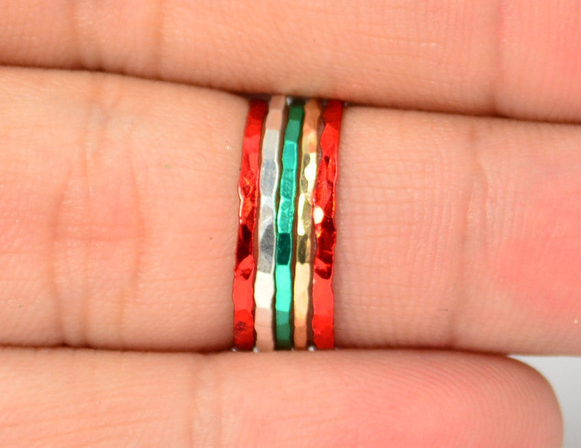 Set of 5 Super Thin Christmas Inspired