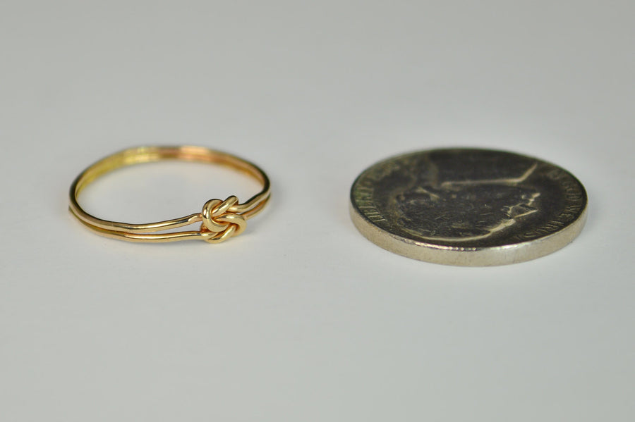 Dainty Gold Double Knot Ring