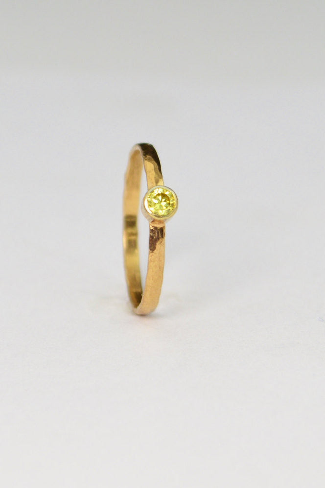 Classic Solid 14k Rose Gold Topaz Ring