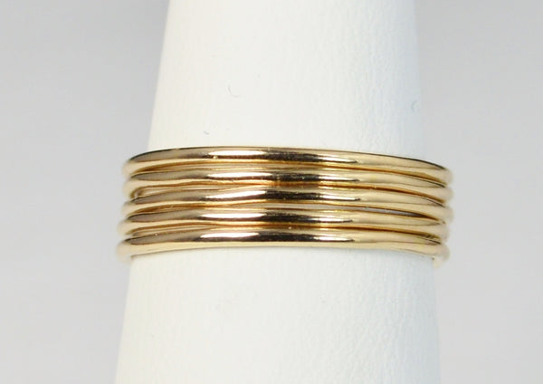 Thin Round 14k Gold Filled Stackable Ring
