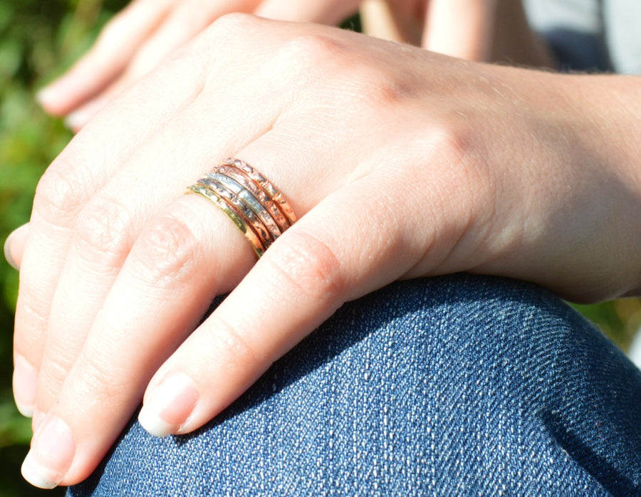 Stars and Stripes Stacking Rings - B6